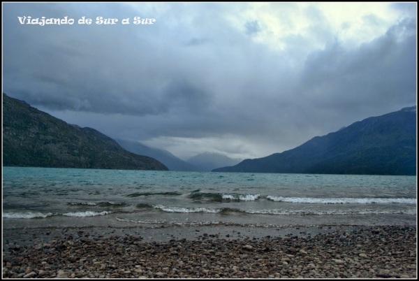Lago Puelo visto desde el Camping