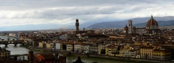 Florencia – vista desde la Plaza de Miguel Angel.