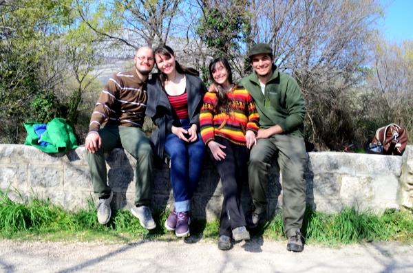 Salió un poco movida la foto, pero acá estamos con Lara y Mario, nuestros anfitriones en Split