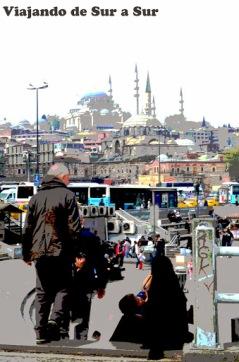 Efectos locos a la foto – caminando por Estambul