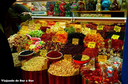 En el Bazar de las Especias (también conocido como Bazar hindú) se pueden encontrar todo tipo de condimentos, y además, estos riquísimos dulces turcos