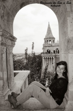 En una de las torres del castillo, tranqui eh