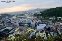 Un vistazo de Salzburgo desde la Fortaleza de Hohensalzburg