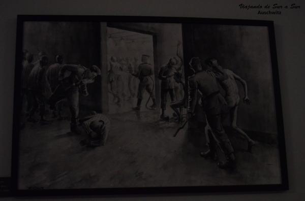 Cuadro hecho a base de los relatos de los ex presos en Auschwitz