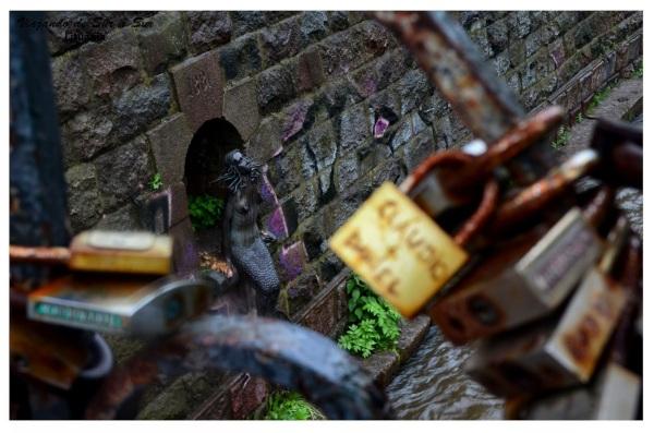 La Sirenita de Vilnius. Es una especie de copia de la que está en Copenhague. Fotón
