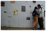 Nosotros en el callejón de los artistas...