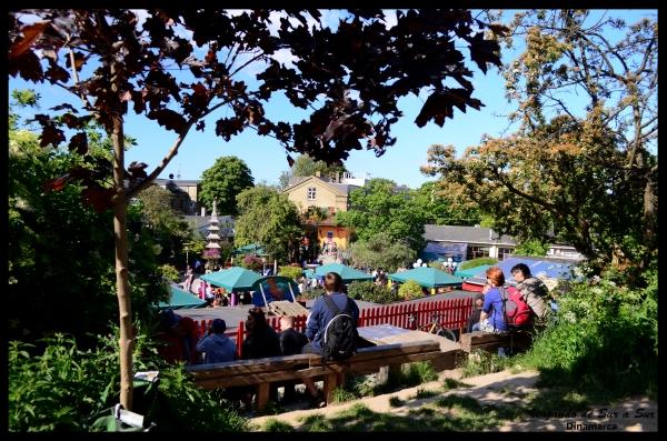 La parte turística de Christiania, allí no se puede sacar fotos.