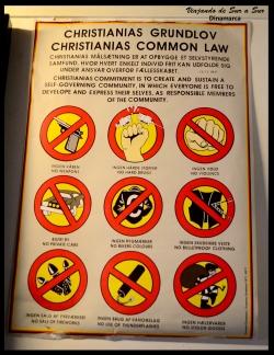 En el pequeño museo que hay dentro de Christiania se pueden ver las primeras leyes