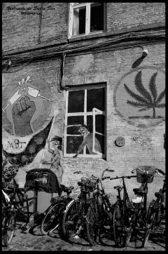 La ciudad libre esta llena de antiguos grafitis que señalan los ideales y posturas