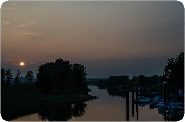 Acampar libre te da la oportunidad de parar cuando encontras un paisaje como este