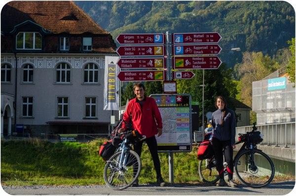 Las rutas de cicloturismo en Suiza, una pinturita.