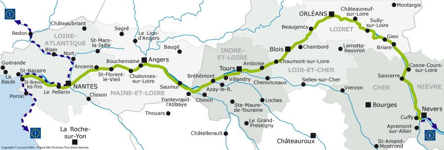 Castillos Del Loira Mapa.Ruta Castillos Loira Mapa Mapa