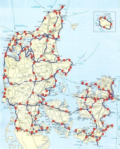 ruta de bicicleta en Dinamarca