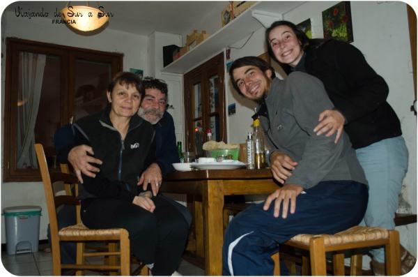 con Paco y Sandrine