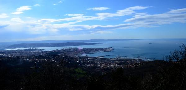 La vista desde el camping de Trieste