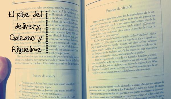 El pibe del delivery, Galeano y Riquelme
